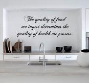 The Quality of Food Wall Decal