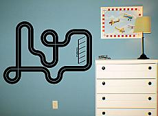 Road Map Wall Decal