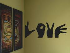 Love in Sign Language Wall Decal