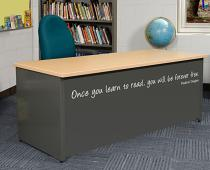Once You Learn Wall Decal