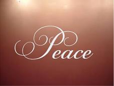 Peace Simply Words Decal