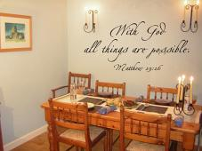 With God Possible Wall Decal