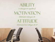 Ability Motivation Attitude Wall Decal