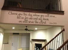 Serve the Lord Decal