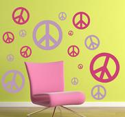 Peace Sign Wall Decal Pack