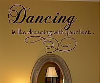 Dancing Dreaming Wall Decal