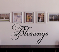 Blessings Simple Word Wall Decal