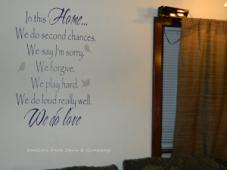 In This Home We Do Love Wall Decal
