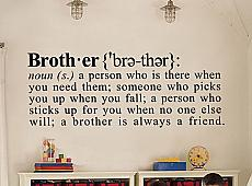 Brother Definition Wall Decal