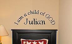 I Am The Child Of God Monogram
