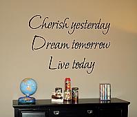 Cherish, Dream, Love Wall Decal