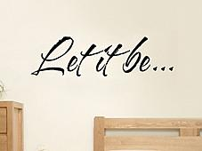 Let It Be Wall Decal