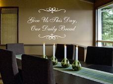 Our Daily Bread Wall Decal