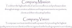 Mission Vision Wall Decal