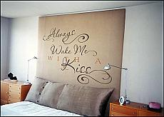 Always Wake Me With A Kiss Wall Decal