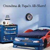 Grandma and Papa's All-Stars  Wall Decal
