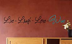 Live Laugh Love Wine Wall Decal