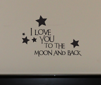 Moon & Back Stars Wall Decals
