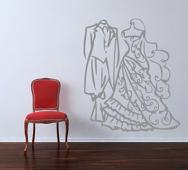 Wedding Clothes Wall Decal