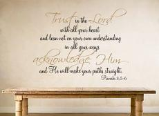 Trust in the Lord Proverb Wall Decal
