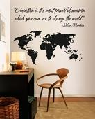 Education Changes the World Wall Decal