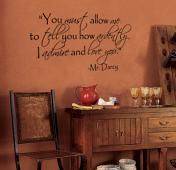 Mr. Darcy Quote Wall Decal