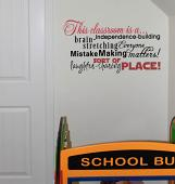 This Classroom Is A Subway Wall Decal