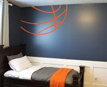 Basketball Lines Wall Decal