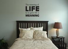 The Meaning of Life Wall Decal