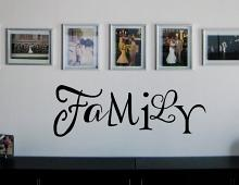 Mixed Font Family Wall Decal