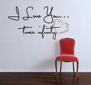 Love You Times Infinity Wall Decal