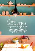 Let's Have Some Tea Wall Decal