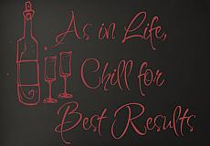 Chill For Best Results Wall Decal Item