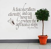 A Teacher Affects Eternity Wall Decal