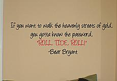 Roll Tide Roll Wall Decal