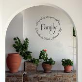 Family Founded Faith Joined Love Wall Decal