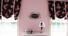 Flower Name Frame Wall Decal