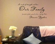 Our Family Together Forever Wall Decal
