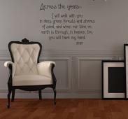 Across The Years Walk With You Wall Decal