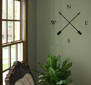 Compass With Arrows Wall Decal