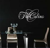 Script Monogram Name Wall Decal