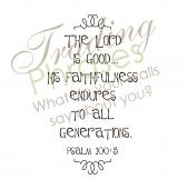 Psalm 100 Wall Decal