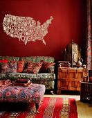 Typography Map Wall Decal