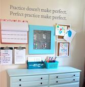 Practice Doesn't Make Perfect Wall Decal