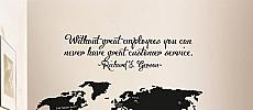 Great Employees Great Customer Service Wall Decal