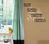 Faith Family Farming Friends Wall Decal