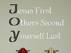 Jesus First Others Second Yourself Last Wall Decals