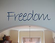 Freedom Wall Decal
