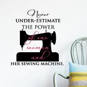 Sewing Machine Wall Decal