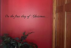 First Day Of Christmas Wall Decal